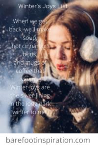 winter's joys list